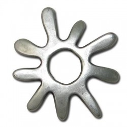 Pendentif Soleil en Métal/Zamac, 37mm