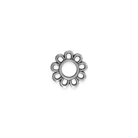 Rondelle Fleur en Métal/Zamak 15mm