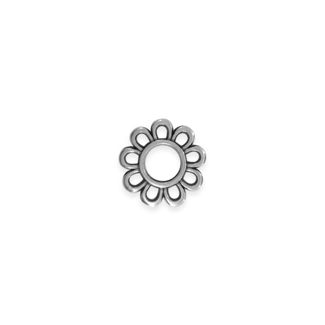 Zamak Charm Flower 15mm