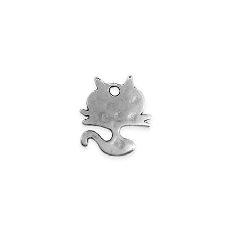 Μεταλλικό Ζάμακ Χυτό Μοτίφ Γάτα 19x20mm