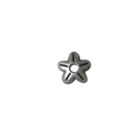 Μεταλλική Ζάμακ Χυτή Χάντρα Καπελάκι Λουλούδι 8mm