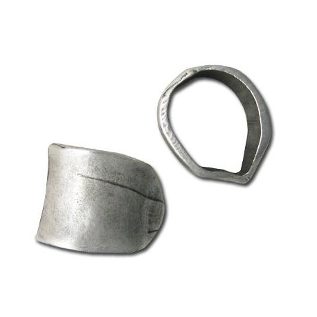 Μετ. Ζάμακ Χυτή Χάντρα Σωλήνας Ακανόνιστος 34x27mm(Ø21x26mm)