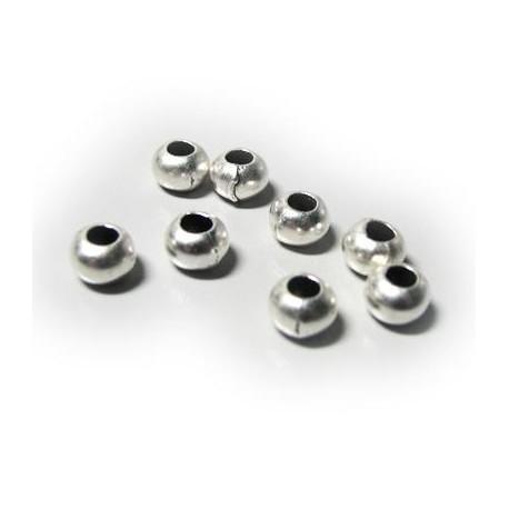 Μεταλλική Ζάμακ Χυτή Χάντρα Στρογγυλή 7x5.2mm (Ø3.3mm)