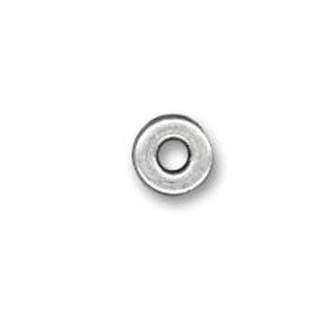Μεταλλική Ζάμακ Χυτή Χάντρα Ροδέλα 9x1.5mm (Ø3.6mm)