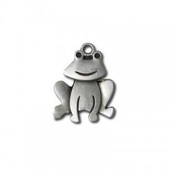 Zamak Charm Frog 18x23mm