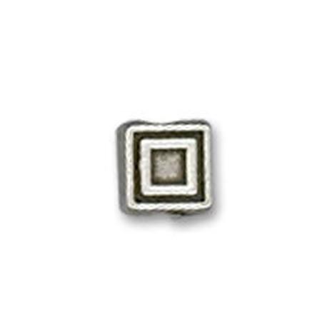 Perlina in Zama Quadrata Schiacciata 6.5mm (Ø 1.6mm)