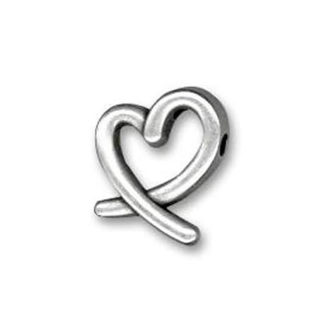 Zamak Slider Heart 17x14mm