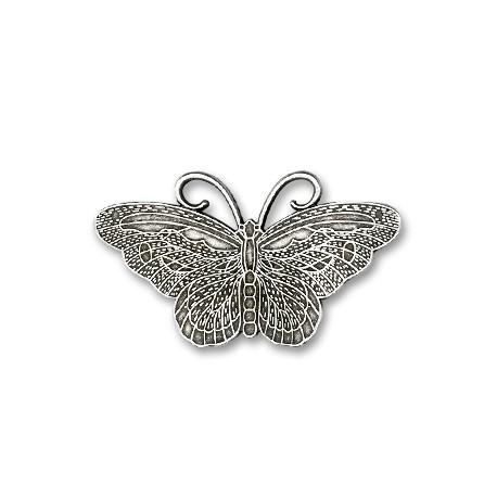 Pendentif Papillon en Métal/Zamac, 63x35mm