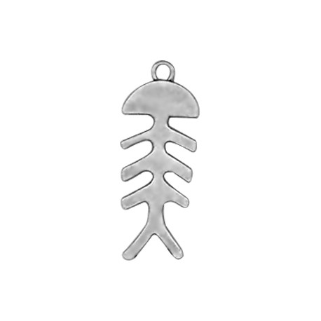 Zamak Pendant Fishbone 37x15mm