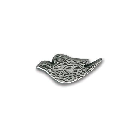 Breloque Oiseau en Métal/Zamac, 29x13mm