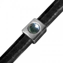 Zamak Tube Flatback Setting SS39 for Regaliz Leather 15x13x10mm (Ø 10x7mm))
