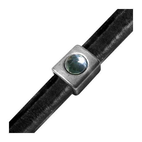 Passant Tube en Métal/Zamac pour Cuir Regaliz, 15x13x10mm (Pour SS39 Flatback)