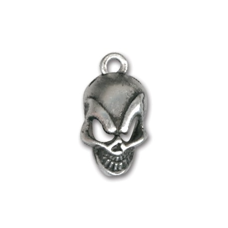 Zamak Charm Skull 10x16mm