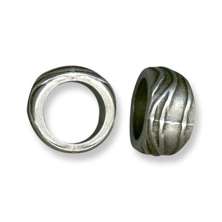 Passante in Zama Tubo Irregolare Decorato 16x27mm (Ø 20mm)