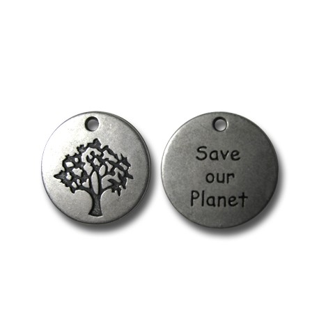 Charm in Zama Logo SAVE OUR PLANET 20mm