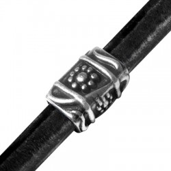 Zamak Slider Tube for Regaliz Leather 20x13x15mm (Ø 10x7mm)