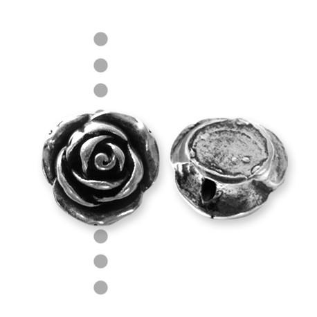 Passant Rose en Métal/Zamac, 25mm (Ø 2mm)