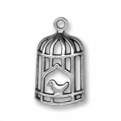 Zamak Charm Bird Cage 13x26mm