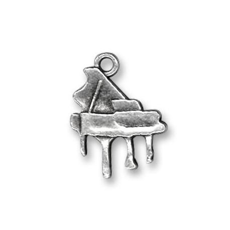 Breloque Piano en Métal/Zamac, 15x19mm