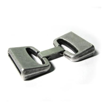 Fermoir avec Clip en Métal/Zamac, Ø 20x2.5mm