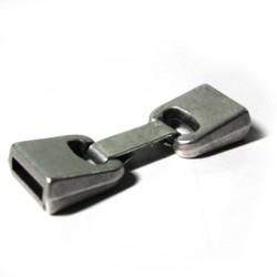 Fermoir avec Clip en Métal/Zamac, Ø 10x2.5mm