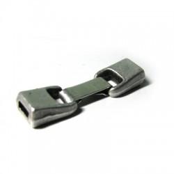 Fermoir avec Clip en Métal/Zamac, Ø 6x2.5mm
