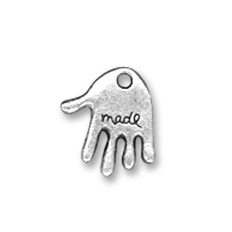 Charm in Zama Mano Logo MADE 10x12mm