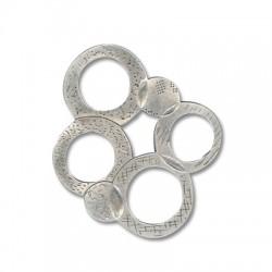 Μεταλλικό Ζάμακ Χυτό Στοιχείο Κύκλοι 70x75mm
