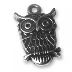 Zamak Charm Owl 14x23mm