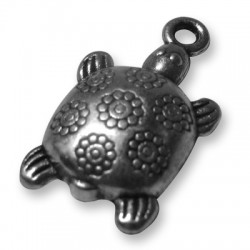 Zamak Charm Turtle 10x13mm