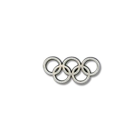 Breloque Symbole Olympique en Métal/Zamac, 25x13mm