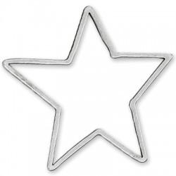 Μεταλλικό Ζάμακ Χυτό Μοτίφ Αστέρι 82x85mm
