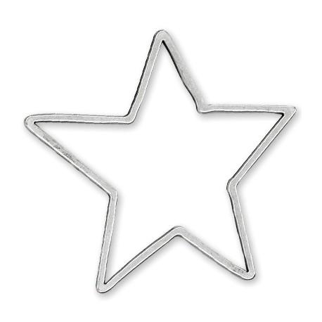 Pendentif Étoile en Métal/Zamac, 82x85mm