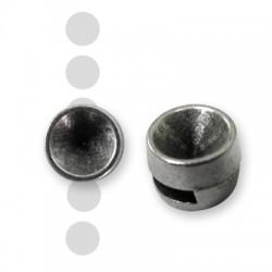 Μεταλλικό Ζάμακ Χυτό Στοιχείο Περαστό Βάση για Σατόν SS39 (Ø 2,2x7mm)