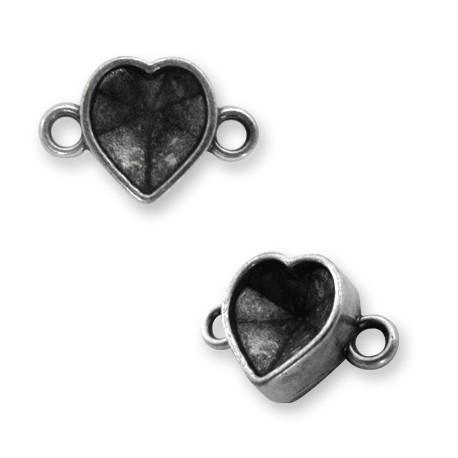 Intercalaire Support Cœur en Métal/Zamac, 11mm