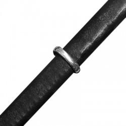 Μεταλλικός Ζάμακ Χυτός Κρίκος Οβάλ Περαστός 11x14mm (Ø 10x7mm) (για Δέρμα Regaliz)