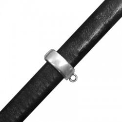 Μεταλλικό Ζάμακ Χυτό Στοιχείο Περαστό με Κρίκο 14,5x10mm (Ø 10x7mm) (για Δέρμα Regaliz)