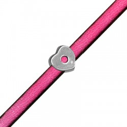 Zamak Slider Heart 11mm (Ø 6.5x2.5mm)