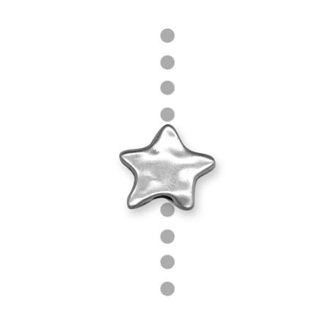 Passant Étoile Martelée en Métal/Zamac, 18mm