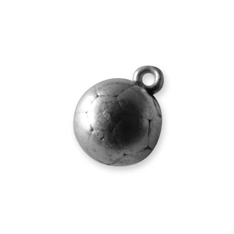 Breloque Ballon de Football en Métal/Zamac, 11mm