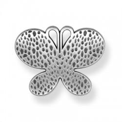 Pendentif Papillon en Métal/Zamac, 57mm