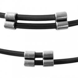 Double Tube/Embout en Métal/Zamac, 8mm (Ø 3.2mm)