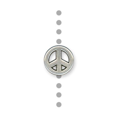 Passante in Zama Segno della Pace 15mm (Ø 1.5mm)