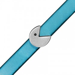 Μεταλλικό Ζάμακ Μοτίφ Πάκμαν Περαστό 13x12mm (Ø10.2x2.2mm)