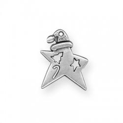 Zamak Charm Star 25x21mm