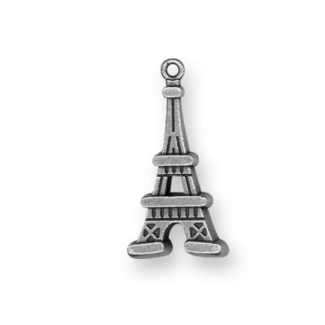 Pendentif Tour Eiffel en Métal/Zamac, 20x40mm
