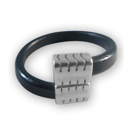 Fermoir Aimanté en Métal/Zamac pour Cuir Regaliz, 19x27.5x10.5mm (Ø 7.5x10.4mm)