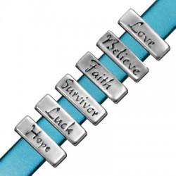 Μεταλλικό Στοιχείο Γούρι Ευχές Περαστό 18x6mm (Ø10.2x2.2mm)