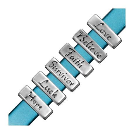Assortiment Passants en Métal/Zamac, 18x6mm (Ø 10.2x2.2mm)