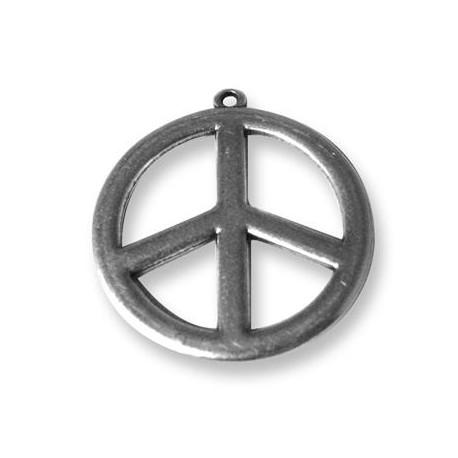 Pendentif Symbole de la Paix en Métal/Zamac, 35mm